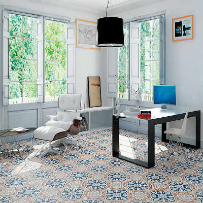 patterned floor tiles